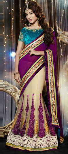 144239, Lehngas Style Sarees, Net, Ghatchola, Valvet, Zari, Lace, Machine Embroidery, Sequence.  #LehengaSaree #Wedding #bridal #OnlineShopping #ThanksGiving #Sale #floral