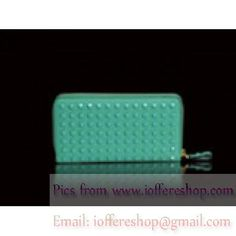 Valentino Garavani Continental Zip Around Wallet Turquoise