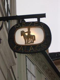 Hungarian street sign