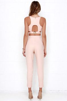 Well-Suited Blush Pink Two-Piece Set