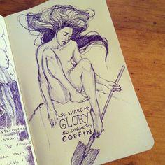 #sketch #sketchbook #drawing #art  Daily Sketch Journal via Mirilittlebird on Instagram
