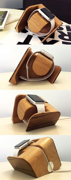 The latest from #Tokka, the #Tänään #Apple #Watch #Charging #Dock is a modern, #sculptural #design worthy of your beside #table! #Made by #hand by a #California #artisan, the artistic #dock is created using alder #wood and reclaimed barn wood sourced from the Amish #country in #Massachusetts. The materials may be traditional, but the shape is ultra-modern and perfectly suited for displaying your precious Apple #Watch! #Yankodesign #Productdesign