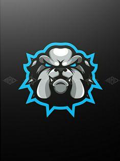 Fantasy Logo, New Fantasy, Bulldog Mascot, Bull Dog, Sports Logos, Sport Style, Logo Concept, Logo Sticker, Animal Logo