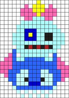 Stitch Tusm Perler Bead Pattern / Bead Sprite