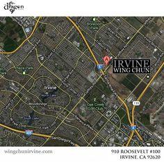 Map of Irvine Wing Chun
