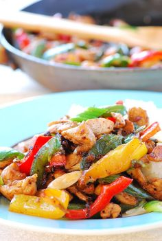 Chicken, Jalapeno and Bell Pepper Stir Fry!