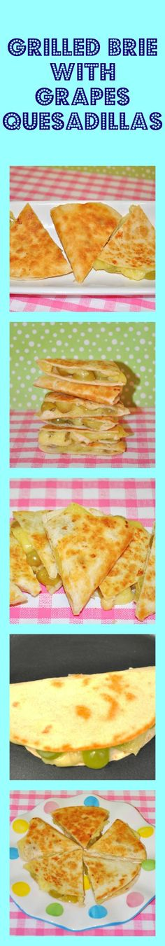 Grilled Brie Cheese and Grape Quesadillas....so yummy and so easy to make. Perfect appetizer for the Super bowl. These go perfectly with a glass of wine.