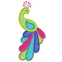 Peacock, machine embroidery & applique from http://www.embroidery-boutique.com/images/detailed/1/peackock_pic.jpg