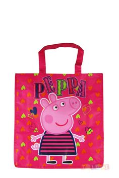 Cabas Peppa Pig Cœurs | Toluki https://www.facebook.com/Toluki #peppa #enfant