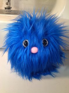 Furry Monster Plush - 4 Blue Coodle. $10.00, via Etsy.
