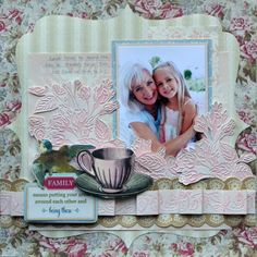 Anna Griffin Scrapbook Page Layouts   anna griffin embossing folders--romantic set