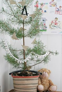 Cute child's Christmas tree