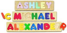Personalized name puzzle! Great gift for a toddler.