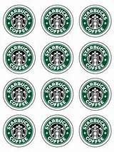 coffee cup wrapper template - printable mini starbucks logos party ideas pinterest
