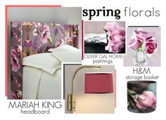 """""""The Home Advantage - Spring Florals"""" by latoyacl ❤ liked on Polyvore featuring interior, interiors, interior design, home, home decor and interior decorating"""