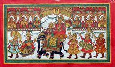 Phad Painting, Indian Art Paintings, Painting Gallery, Folk Art, Miniatures, Kids Rugs, Watercolor, Drawings, Crafts