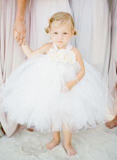 White Wedding Details   FLOWER GIRL   Your flower girl will feel like a pint-sized bride in a pretty white tutu.