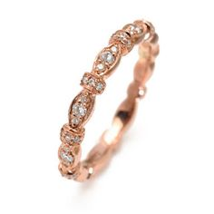 Gabriel & Co rose gold wedding band. Would love this in yellow gold.