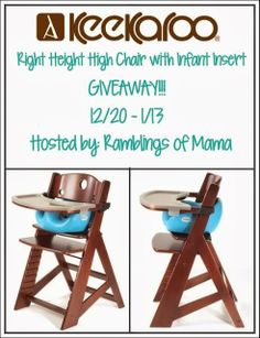 baby chair giveaway #Giveaway: Enter To #Win Right Height High Chair