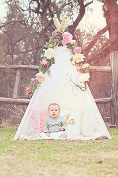 Mila's First Birthday - Floral Teepee - Woodland Unicorn - Cake Smash