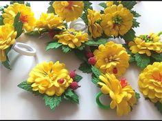 Резиночки и заколочки для волос /Простые цветы из фоамирана - YouTube Foam Sheet Crafts, Flower Stamen, Foam Sheets, Hair Beads, Artificial Flowers, Hair Clips, Headbands, Floral Wreath, Make It Yourself