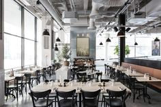 Tax Agency in Stockholm Converted into Elegant Restaurant by Richard Lindvall - http://freshome.com/tax-agency-in-stockholm-transformed-into-elegant-restaurant/