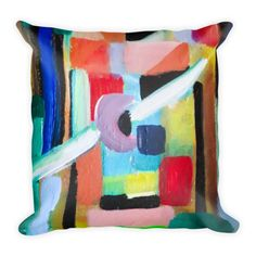Tribal - Luxury Square Pillow by artist Deborah Kalavrezou Soft Pillows, Throw Pillows, Hand Painting Art, Hand Sewing, Things To Come, Cushions, Hand Painted, Lifestyle, Canvas