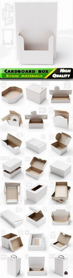 Design of cardboard box and package with drawing for cutting - 25 HQ Jpg