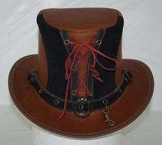 Top Hat, Steampunk, Genuine Leather