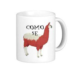 Como Se Llama Mug  Perfect mug for Spanish teachers and students, llama lovers or people who appreciate a good sense of humor. #mugs