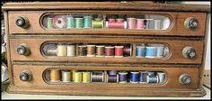 Antique thread drawer