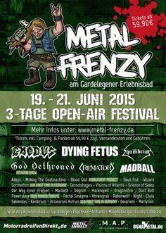 Aktion Barrierefrei 2015 - Das Metal Frenzy ist vollständig, das Lineup steht und bei uns bekommt ihr alle Infos die das Metaller Herz begehrt. Inklusive der Audiodatein, Schriftvergrößerung und natürlich für besucher mit Handicap - Teilt was das Zeug hält damit die Infos weit rum kommen. #news #metal #festival #germany
