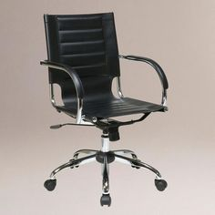 One of my favorite discoveries at WorldMarket.com: Black Grant Office Chair