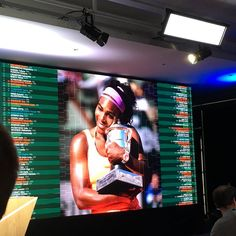 2015 Roland Garros Champion Serena Williams, expecting her 1st child this fall, is missed at Roland Garros 2017. Here, the 23-Time Major Champion appeared on the 2016 French Open Draw Board. Her 3rd RG Crown was also Grand Slam No. 20 for Queen Rena! Bella.
