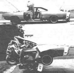 Dodge Charger crash test before and adter Old Vintage Cars, Antique Cars, Vintage Ideas, Vintage Photos, Junkyard Cars, Volkswagen, Dodge Charger Rt, Abandoned Cars, Mustang Cars