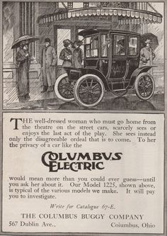 The First Golden Age of Electric Car Advertising - The Science of Society - Pacific Standard: The Science of Society