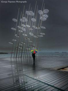 Ομπρέλες στη βροχή... Θεσσαλονίκη, Thessaloniki...