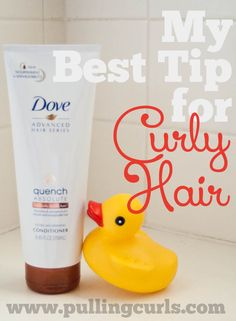 Curly hair lacks moisture.  This one tip can help fix that!  #pullingcurls