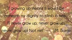 J.M. Barrie Never Grow Up, Always Smile, Peter Pan, Growing Up, Fairy Tales, Cow, Life Quotes, Wisdom