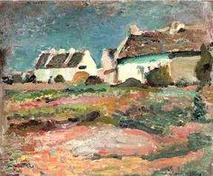 Henri Matisse - Maisons à Kervilahouen, Belle-Ile, 1896 #arte