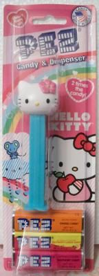 Large Hello Kitty PEZ by Sanrio light blue FREE-SHIPPING
