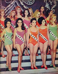 Some contestants in the Miss Universe Pageant, 1968.
