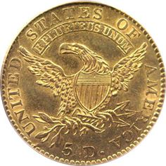 1813 five dollar gold
