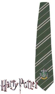 Harry Hermione Ron tie hogwarts slytherin green fancy tie hogwarts