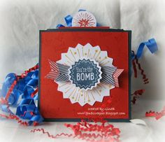 Gina's Little Corner of StampinHeaven: June Stamp of the Month - Kaboom