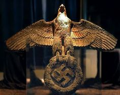 """✠ The eagle from the stern of WW2 German battleship Admiral Graf Spee, scuttled on December 17, 1939 off the coast of Montevideo after a fierce battle with three British battlecruisers in what is known as """"The battle of the River Plate"""", is recovered from the depths of the estuary in 2006 ✠"""