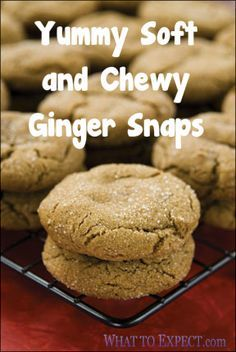Yummy Soft & Chewy Ginger Snaps  1 cup sugar  1/4 cup molasses  1 beaten egg  3/4 cup oil    Mix well, then add:    1 1/2 cup flour  2 tsp baking soda  1/2 tsp salt  1/2 tsp ginger  1/2 tsp cloves  1 tsp cinnamon    Roll into balls, then roll in sugar.  Place on ungreased cookie sheet.  Bake for about 7 minutes at 350 degrees.