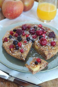 Een gezonde (!) ovenpannenkoek met appel (glutenvrij, suikervrij, lactosevrij). Een heerlijk gezond ontbijtje! | Perfect Housewife - to be