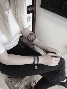 Small Mandala Tattoo on Forearm by Mister Paterson from Scratchline Tattoo Kentish Town London