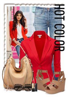 """Red Blazer❤️"" by fashionaddict0303 ❤ liked on Polyvore featuring J Brand, Doublju, Rebecca Minkoff, STELLA McCARTNEY, Steve Madden and Lancôme"